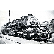 NORFOLK AND WESTERN Steam Engine #2137. Photo is 5 3/8 X 3 1/2 IN. RPPC. Excellent Unposted Condition, Sharp Focus.