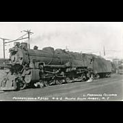 PENN RR  Railroad Locomotive #3750 RR Yard Pacific South Amboy, NJ,  RPPC Unposted Excellent Condition
