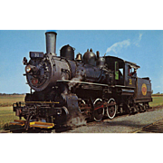 STRASBURG RR Steam Engine Locomotive #31, Built 1908.  Unposted Excellent Condition