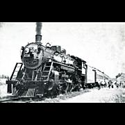 1956 TWO (2) Original RPPC Photos SOO RR LINE Steam Locomotive 2718. Excellent Condition