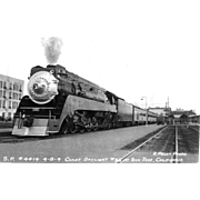 SOUTHERN PACIFIC RR Steam Engine Train Locomotive #4414 Photo  is 5 3/8 X 3 1/2 IN. Printed as a  Postcard. Excellent Unposted Condition, Sharp Focus,