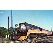 SOUTHERN PACIFIC RR Steam Engine Train Locomotive Photo at San Jose, CA is 5 3/8 X 3 1/2 IN. Printed as a 1954 Postcard. Excellent Unposted Condition, Sharp Focus