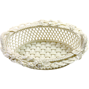 Belleek Porcelain Cream White 3 Strand Basket.