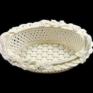 Belleek Porcelain Cream White 3 Strand Basket.