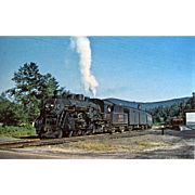 Boston & Maine Railroad RR Steam Engine #3700. Photo is 5 3/8 X 3 1/2 IN. RPPC.  Sharp Focus. 1950 Fabyan, NH