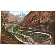 Postcard Colorado Georgetown RR Train Loop, Unposted, Sharp, Excellent Condition, 5 1/2 x 3 1/2 in.