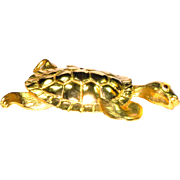 Christopher Ross 24K Gold Plated Turtle Belt Buckle