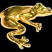 Christopher Ross 24K Gold Plated Frog Belt Buckle