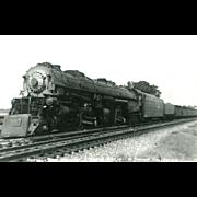 Norfolk and Western Railroad Locomotive Engine #1214 RPPC Excellent Condition