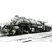 NORFOLK WESTERN RR Steam Engine #2160 Train Locomotive  RPPC. Excellent Post Card Unposted Condition, 5 3/8 X 3 1/2 IN.