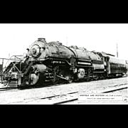 NORFOLK WESTERN RR Steam Engine #2160 Train Locomotive  RPPC. Excellent Post Card Unposted Condition, 5 3/8 X 3 1/2 IN.
