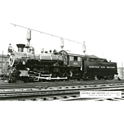 NORFOLK WESTERN RR Steam Engine #475 Train Locomotive  RPPC. Excellent Post Card Unposted Condition, 5 3/8 X 3 1/2 IN.