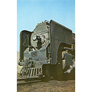 NYC New York Central Railroad RR Steam Engine #3149. Photo is 5 3/8 X 3 1/2 IN. RPPC.  Sharp Focus. 1950 DeWitt,NY Yard.   Smoke Deflector Equipped