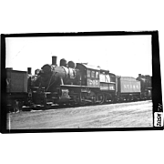 NYO&W RR Train Engine and Tender B&W 3 1/2 x 6 Photo
