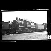 NYO&W RR Train Engine and Tender B&W 3 1/2 x 6 Photo