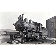 NYO&W 5 1/4 X 3 1/4 IN. BLACK & WHITE Original Photo Train Steam Engine Locomotive #21.