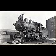 NYO&W 5 1/4 X 3 1/4 IN. BLACK & WHITE Original Photo Train Steam Engine Locomotive #21.