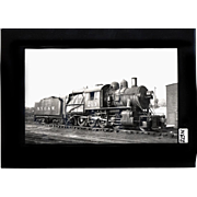 NYO&W RR Train Engine 213 and Tender B&W 3 1/2 x 6 Photo