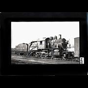 NYO&W RR Train Engine 213 and Tender B&W 3 1/2 x 6 Photo