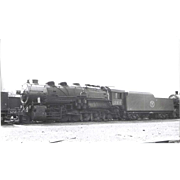 NYO&W RR Train Engine 361 and Tender B&W 3 1/2 x 6 Photo.