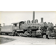 NYO&W 5 1/4 X 3 1/4 IN. BLACK & WHITE Original Photo Train Steam Engine Locomotive #37.