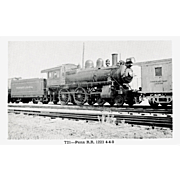 PENN Steam Engine #1223. Photo is 5 3/8 X 3 1/2 IN. RPPC. Excellent UNPOSTED Condition, sharp focus.