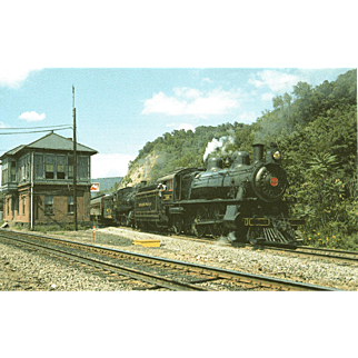 PENN RR Steam Engines #7002 & 1223 at ROCKVILLE TOWER, 8/23/85,  Photo 5 3/8 X 3 1/2 IN. RPPC. Excellent Condition, Sharp Focus