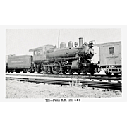 PENN RR Steam Engine #1223 Train Locomotive RPPC. Excellent Post Card Unposted Condition, 5 3/8 X 3 1/2 IN.