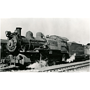 Photo PENN Railroad RR Line Steam Locomotive #1678. Excellent Condition, RPPC Unposted.