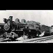 Photo PENN Railroad RR Line Steam Locomotive #1678. Excellent Condition, RPPC Unposted.
