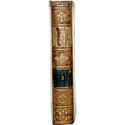 "1813 All Leather French Language Book 6 1/2 X4 1/4 IN. First Edition,""ABREGE DE L'HISTOIRE ROMAINE, VOL 2. Clean Inside, Paper Hand-Laid, Chain Linked of the Period. 412 Pages,"