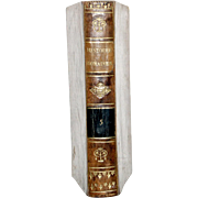 "1813 All Leather French Language Book 6 1/2 X4 1/4 IN. First Edition,""ABREGE DE L'HISTOIRE ROMAINE, VOL 2. Clean Inside, Paper Hand-Laid, Chain Linked of the Period. 412 Pages"