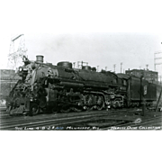 SOO LINE RR Steam Engine Locomotive at Milwaukee, WI.  Photo is 5 3/8 X 3 1/2 IN.  RPPC Postcard. Excellent Unposted Condition Merlin Olive Jr. Collection