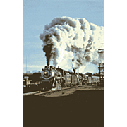 SOUTHERN RR Steam Engines at AUSTELL, GA, #722 & #630. Photo is 5 3/8 X 3 1/2 IN. RPPC. Excellent Unposted Condition, Sharp Focus.
