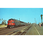 "SOUTHERN PACIFIC Diesel Engine #76, ""LARK"" at Glendale, CA. Photo is 5 3/8 X 3 1/2 IN. RPPC Excellent Unposted Condition, Sharp Focus."