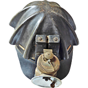 "AMERICAN Leather and Fiber ""Turtleback""  Miners Helmet with Universal Lamp Co.  Found in the Colorado Mining Town of LEADVILLE. VG+ Condition"