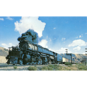 UNION PACIFIC RR Steam Engine at Echo UT. Photo IS 5 3/8 X 3 1/2 IN. RPPC. Excellent Unposted Condition, Sharp Focus.