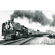 Railroad Original  RPPC Photo RR UNION PACIFIC Line Steam Locomotive #841. CHEYENNE, WY. Excellent Condition,Sharp,