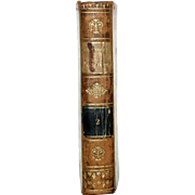"1813 All Leather French Language Book 6 1/2 X4 1/4 IN. First Edition,""ABREGE DE L'HISTOIRE ROMAINE, VOL 4. Clean Inside, Paper Hand-Laid, Chain Linked of the Period. 386 Pages"