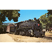 Virginia & Truckee Railroad RR Steam Engine #5. Photo is 5 3/8 X 3 1/2 IN. RPPC. Excellent Unposted Condition, Sharp Focus. 1947 Carson City, NV
