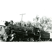 VIRGINIA TRUCKEE RR Steam Engine #5 as shown at CARSON CITY, NV 1947. Excellent Unposted Condition, 5 3/8 X 3 1/2 IN.