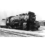 WESTERN PACIFIC RR Steam Locomotive #326 Train at Stockton, CA   PC Dimensions 5 1/2 x 3 1/2 in. Excellent condition