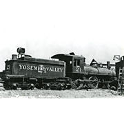 YOSEMITE VALLEY RR Steam Locomotive #21 Train.   PC Dimensions 5 1/2 x 3 1/2 in. Excellent condition. Fremming Collection