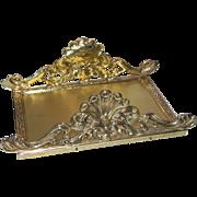 Ornate Ormolu Guest Hand Towel Napkin Letter Mail Holder Gold Gilt Matson Stylebuilt