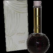 Lucien Lelong INDISCRET Cologne 8 oz Hob Nail Bottle Bakelite Cap Vintage Perfume