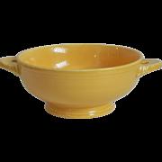 Vintage Fiesta Original Yellow Cream Soup Bowl Lug Handled 1930-50s Homer Laughlin HLC Fiestaware