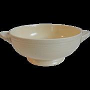 Vintage Fiesta Creamy Ivory Cream Soup Bowl Lug Handled 1930-50s Homer Laughlin HLC Fiestaware
