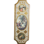 Romantic Italian Florentine Gilt Gold Wall Plaque Italy
