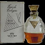 Rare Vintage Vigny Beau Catcher Eau de Cologne EDC Original 4 oz