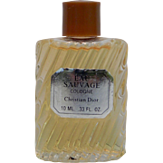 True Vintage Christian Dior EAU SAUVAGE Cologne 10ml Travel Miniature .33 oz Mini